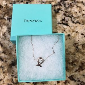 T&Co. Paloma Picasso Silver Loving Heart necklace